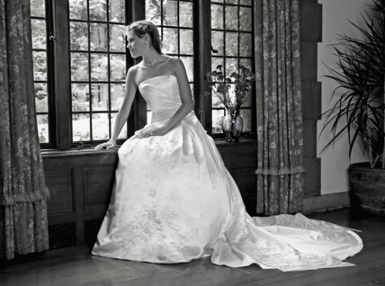 Barry-Regent Dry Cleaners wedding gown