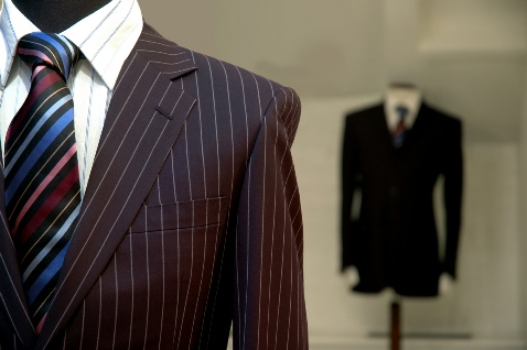 Barry-Regent Dry Cleaners men's suit and tie